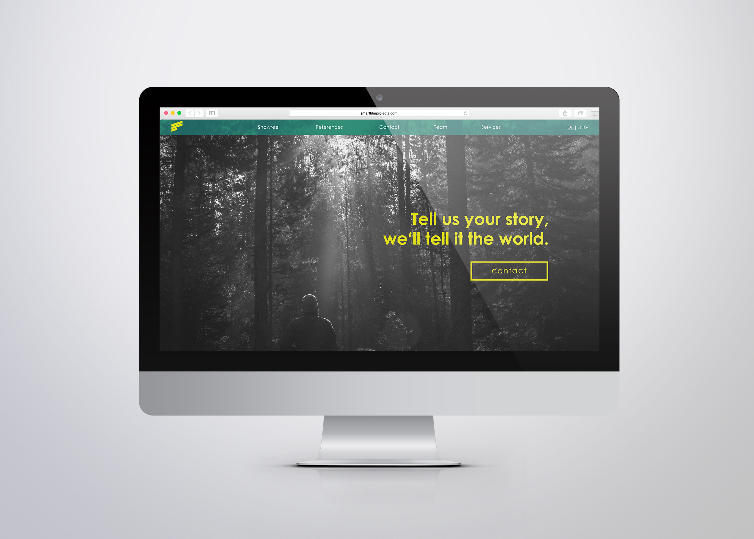 Smartfilmprojects Homepage mockup